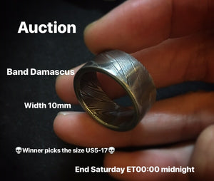 3/24/2018 Auction Circle Band Damascus - winner pick the size