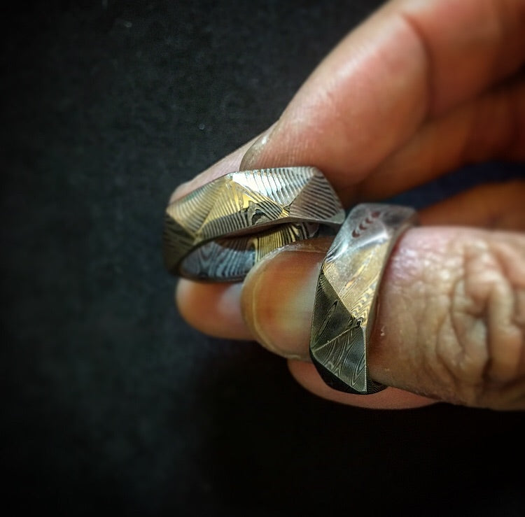 Craftsman Select Feature - Diamond Cut Damascus Ring
