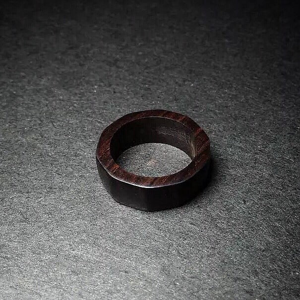 Ebony wooden ring