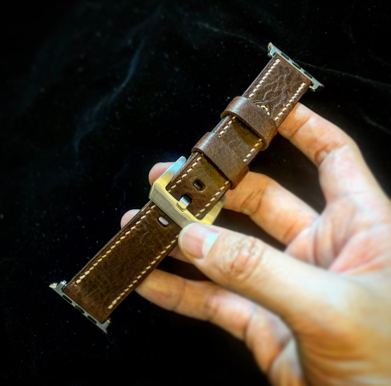 Craftsman Select - Vegtan Watch strap (For Apple watch Dark Brown)