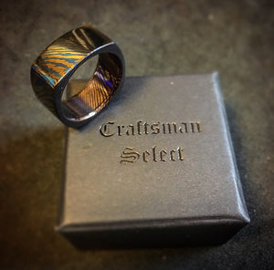 Craftsman Select Features - Square Cut Timascus Ring