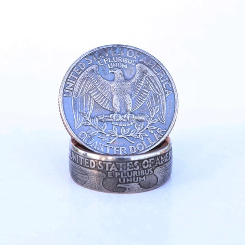 American Coin ring 25cents