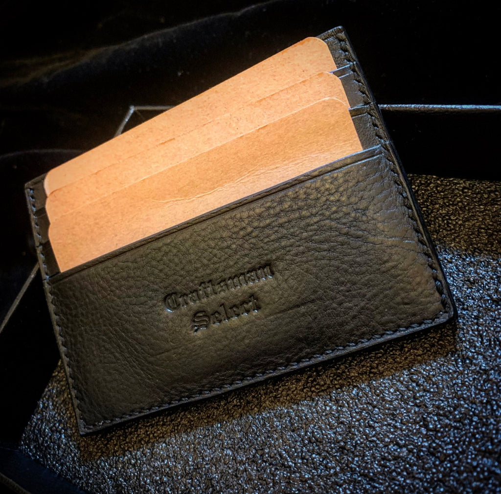 Craftsman Select - Leather cardholder (Minerva Box(Nero) + Buttero)