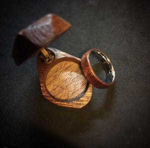Treated Walnut Ring with stainless sleeve