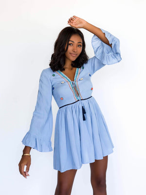 keyhole flowy dress