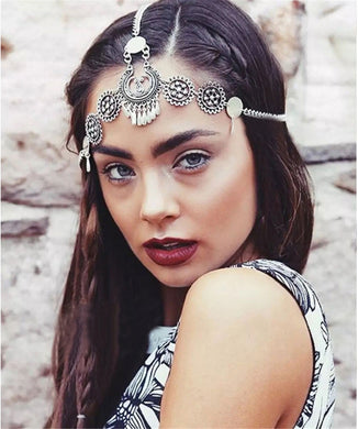 Silver plated head chain