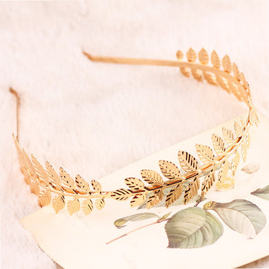 Charming Gold/Silver plated olive leaf headband