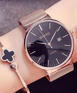 Casual stainless steel watch