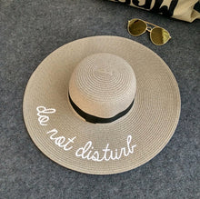 Embroidered summer straw hat
