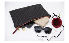 Quilted large clutch purse