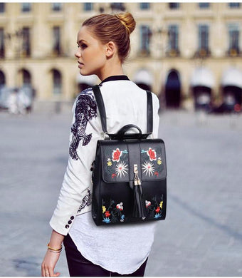 Spring floral backpack