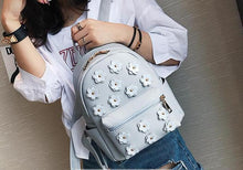 Trendy 3D flower backpack