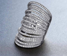 Stylish multilayer sparkly ring