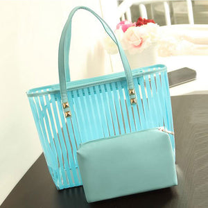 Stylish jelly shoulder bag