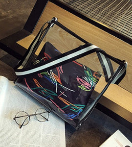 Transparent casual shoulder bag