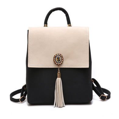 Stylish backpack with tassels