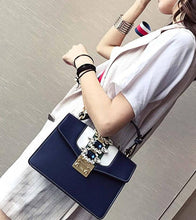Stylish gemstone shoulder bag