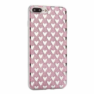 Cute glitter love heart phone case