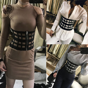 Trendy hollow out corset belt
