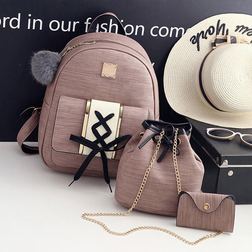 Criss-Cross backpack bag set