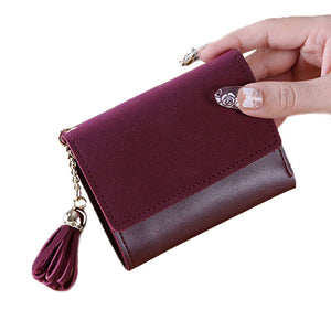 Casual small fringe purse