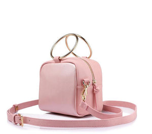 Trendy hoop shoulder handbag