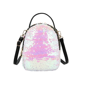 Mini sequin backpack