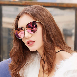 Oversized retro mirror sunglasses