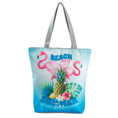 Unicorn & Flamingo printed beach bags