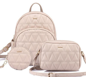 Stylish backpack bag set