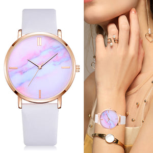 Trendy marble dial quartz watches