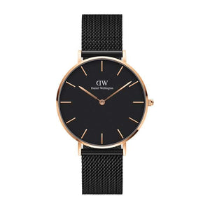 Daniel Wellington Classic Petite Ashfield Rose Gold Face Watch