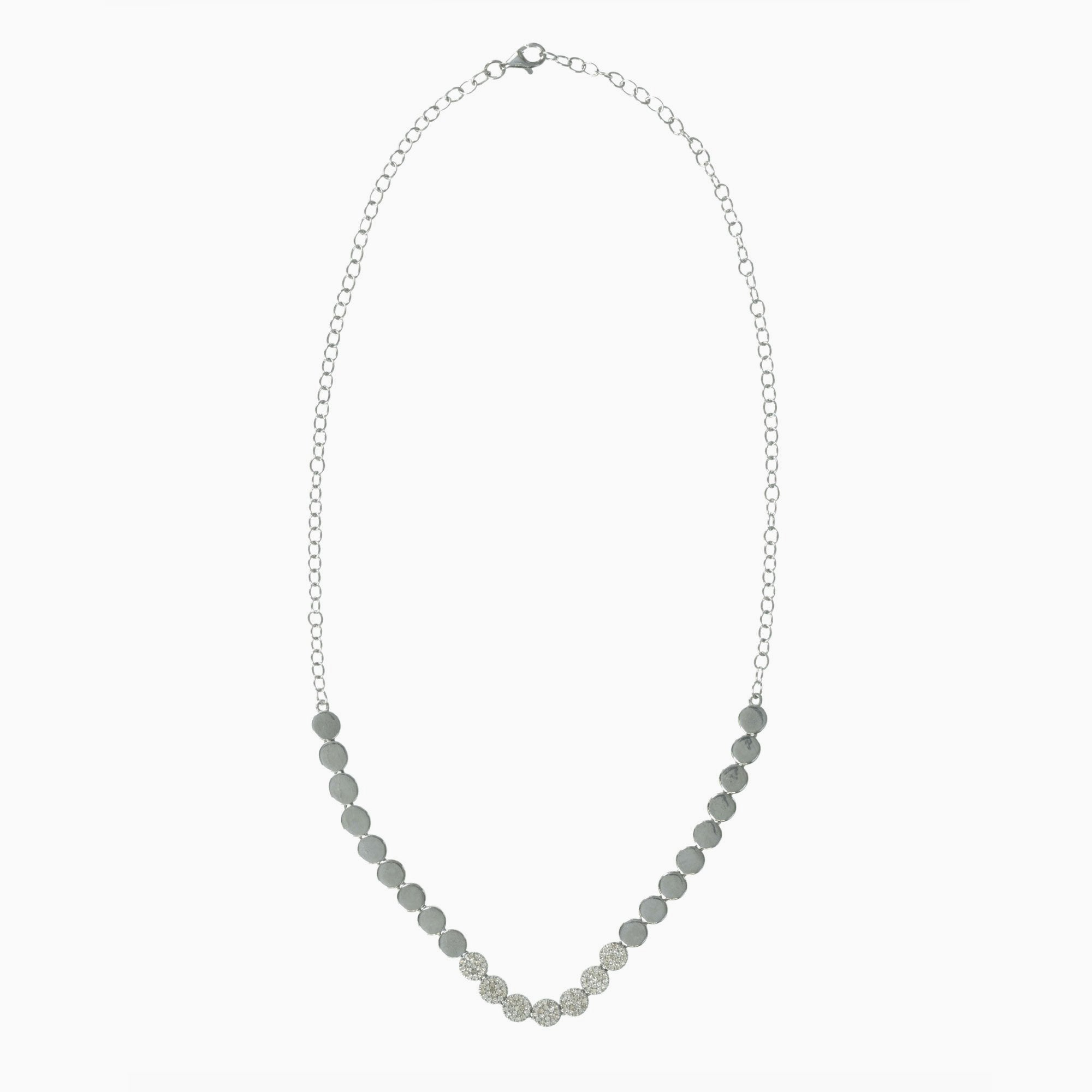 halo necklace ctw carat white in gold circle b diamond