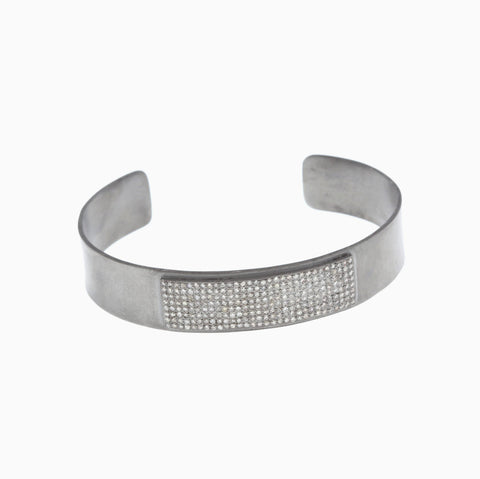 Diamond Buckle Bangle Bracelet