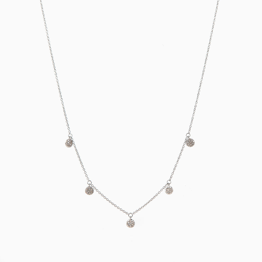 Diamond Disc Chain Necklace
