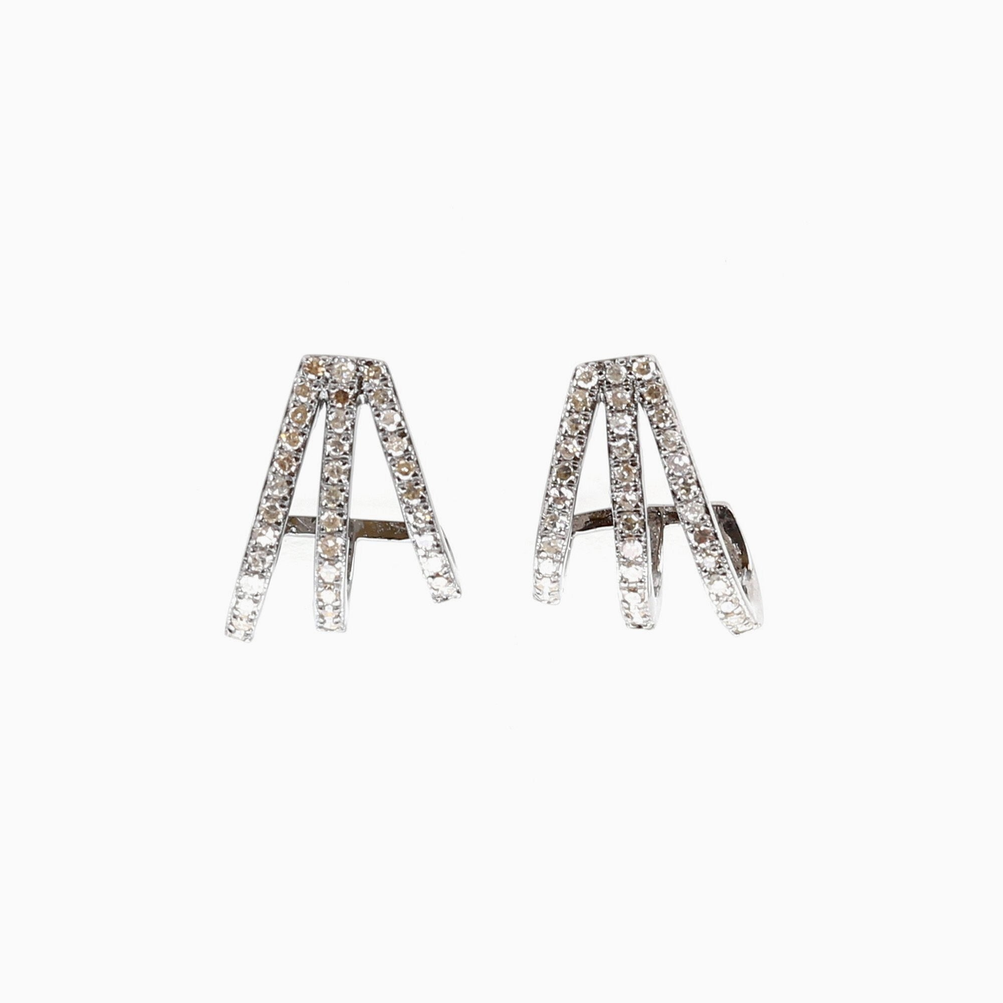 triple of azil diamond drop products cut earrings boutique