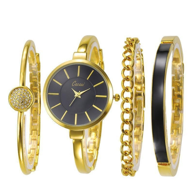 Cacaxi - Women's Luxury 4 Piece Watch and Bracelets Set Watches - BKR Design