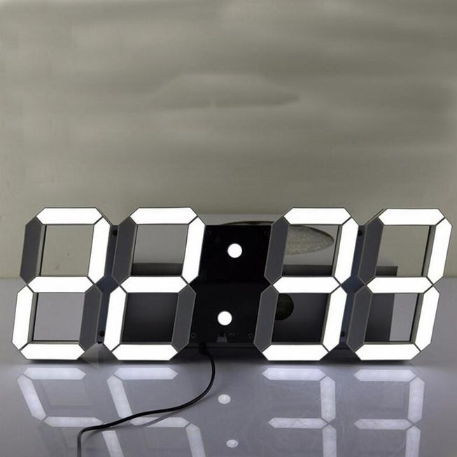 Oversize LED Digital Wall Clock indoors - BKR Design