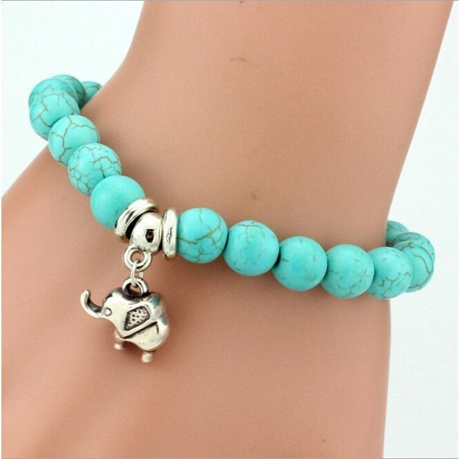 Bohemian Turquoise Bracelets with Various Charms
