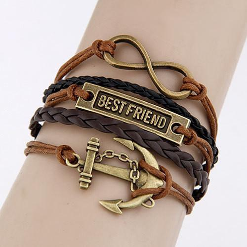 Multilayer Leather Charm Bracelet