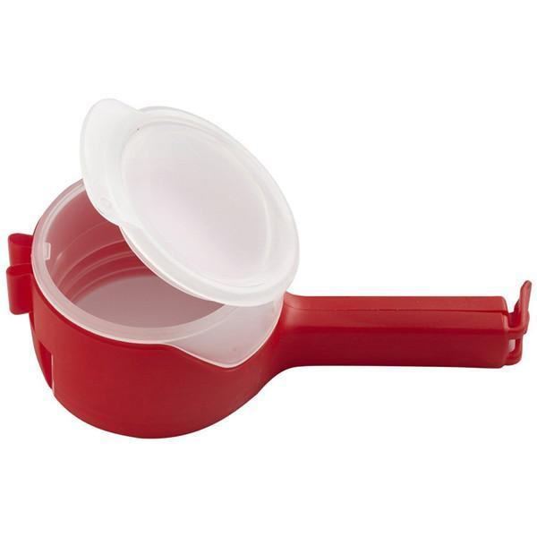 Keep Your Food Fresh - Resealable Food Clamp With Dispenser Nozzle
