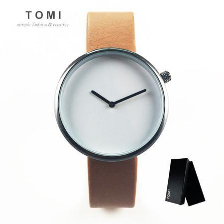 Minimalist Unisex Leather Watch