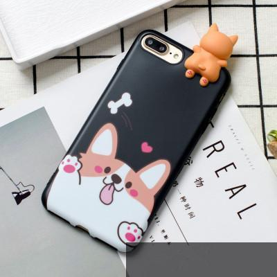 Adorable 3D Welsh Corgi Silicone Phone Case - iPhone