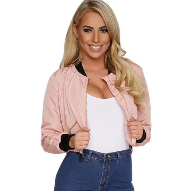 Women Loose Army Style Street Jacket Pink Jackets - BKR Design