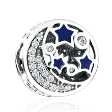 Vintage Starry Sky, Shimmering Midnight Blue Charm for Pandora Bracelets