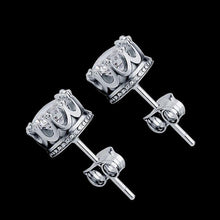 2 Carat Cubic Zircon CZ Crown Stud Earrings