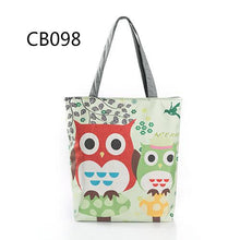 Owl Canvas Tote