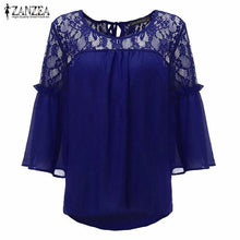 Summer Chiffon Patchwork Lace Blouse