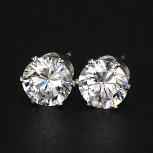 Crystal Zircon Stud Earrings