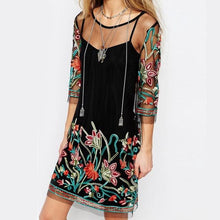 Summer Embroidered Floral Dress